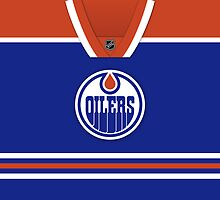 Edmonton Oilers Home Jersey Throw Pillow by Russ Jericho