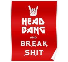 Head Bang (Metal Fonts) Poster
