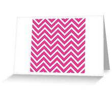 Pink Chevron Greeting Card