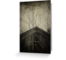 Into the Dark Past Greeting Card