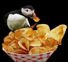 THESE ARE MY PUFFIN CHIPS -THROW PILLOW by ✿✿ Bonita ✿✿ ђєℓℓσ