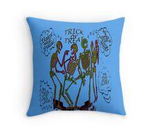 Skeleton Pranks Throw Pillow