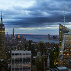 Manhattan (Dusk) by Randy  Le'Moine