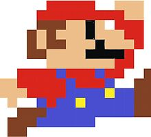 8-bit Mario by Kate Hanning