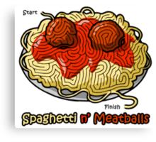Maze Shirts: Spaghetti 'n Meatballs! Canvas Print