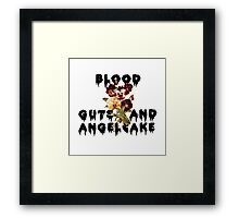 Blood Guts and Angelcake Framed Print