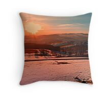 Colorful winter wonderland sundown II | landscape photography Throw Pillow