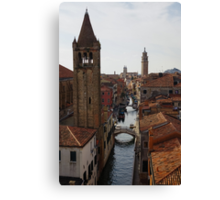 Red Rooftops of Venice  Canvas Print