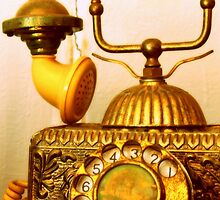 Antique Call... South Africa (Antique Telephone) by Qnita