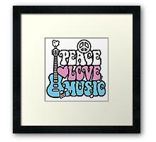 Peace, Love, Music Framed Print