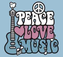 Peace, Love, Music Kids Clothes