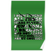 Dungeons & Dragons and Courage Poster