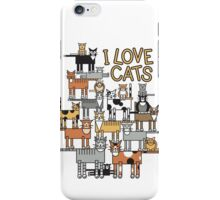 I Love Cats_For All Colors iPhone Case/Skin
