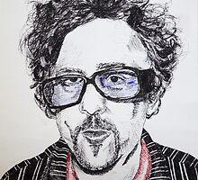 Tim Burton pen portrait  by Sarah Horsman