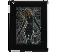 Captain America: The Winter Soldier, Black Widow Poster with text iPad Case/Skin