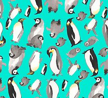 penguins pillow by yelena sayko