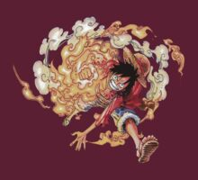 One Piece Luffy Red Hawk by MugiwaranoBiju