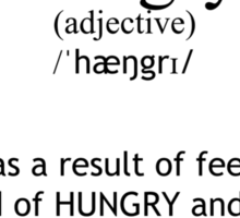 Hangry Definition Sticker