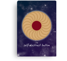 Doctor Who - Self-Destruct Button Canvas Print
