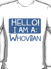 Doctor Who I'm A Whovian T-Shirt Design Proud Nerd Apparel T-Shirt