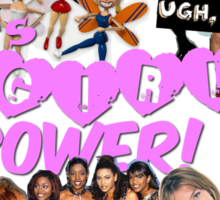 90'S GIRL POWER TEE OMG Sticker