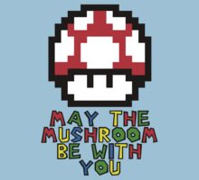 May the Mushroom be with you Kids Clothes