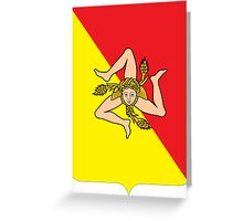 Coat of arms of Sicily Greeting Card