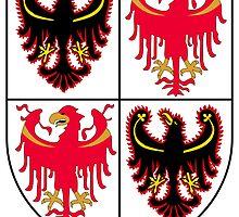 Coat of Arms of Trentino-Alto Adige Sudtirol Region of Italy by abbeyz71