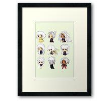 Chibi Whites Framed Print