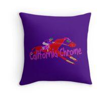 Fun California Chrome Design Throw Pillow