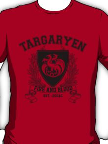 Targaryen University (Black) T-Shirt