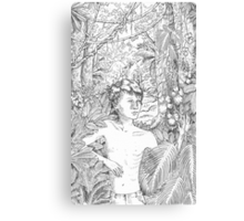 Simon in the Woods Canvas Print