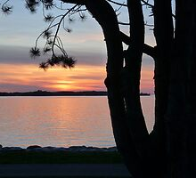 Sunset by Lake Vättern by HELUA