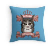 Her Meowjesty Throw Pillow
