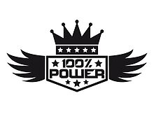 Emblem Crown wings of 100% power by Style-O-Mat