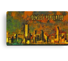 Densely populated Canvas Print