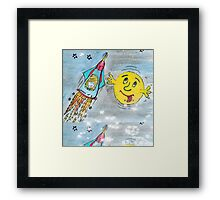Harry and the Bedship: A Trip to Mars Framed Print