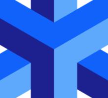 blue cube Sticker