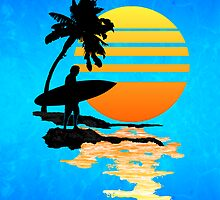 Surfing Sunrise by Packrat