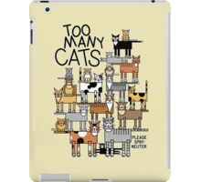 Too Many Cats iPad Case/Skin