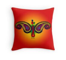 Tribal Paisley Peacock Throw Pillow