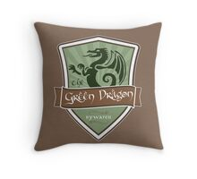Green Dragon - Bywater Throw Pillow