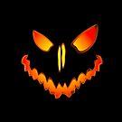 Spooky Jack O Lantern Face by Packrat