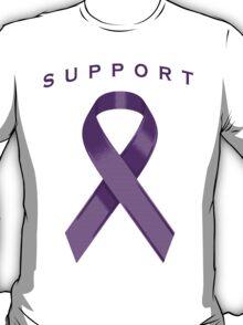 Purple Awareness Ribbon of Support T-Shirt