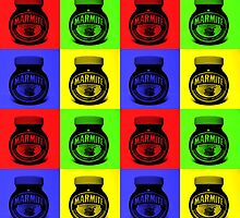 Marmite on Colour Small by Ben Hamilton