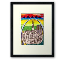 St. Louis, the gateway to the West (My dreams of America part 3) Framed Print