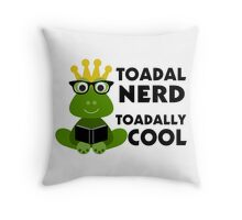 Toadal Nerd Toadally Cool Throw Pillow
