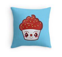 Spooky Cupcake - Killer Clown Throw Pillow