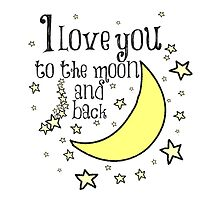 I love you to the moon and back by sweetsisters
