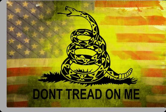don 39 t tread on me shirts sticker american flag